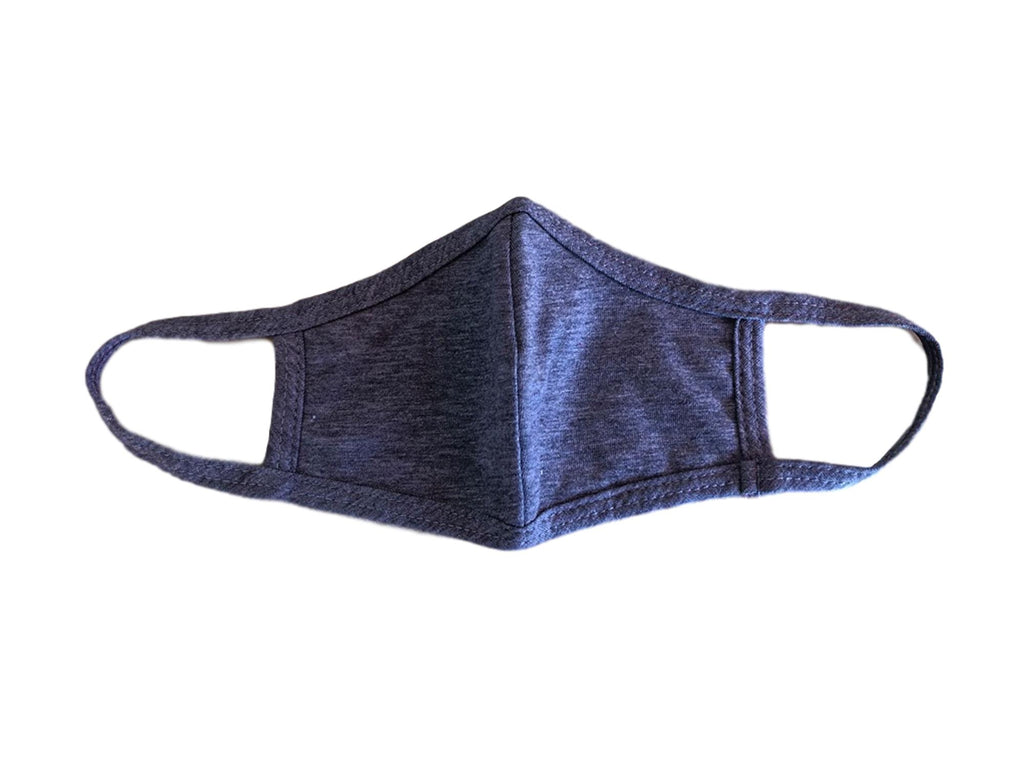 Face Mask, 100% Cotton, 2 layers, Black, Washable, Reusable Mask, Youth Size