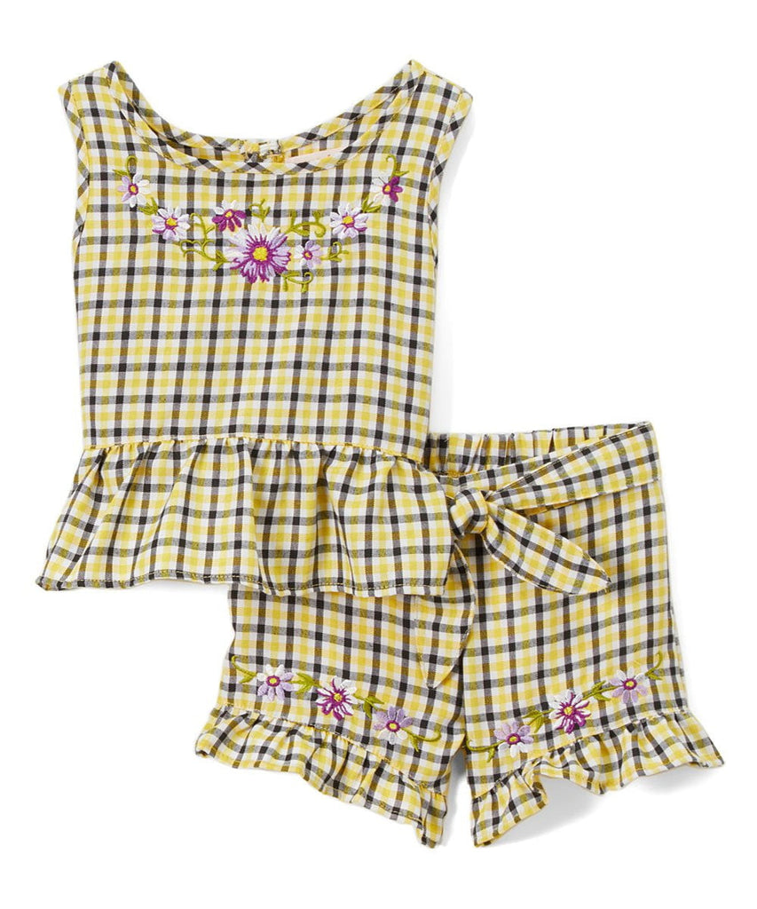 unikinc - Girls Gingham Short Sets - Unikinc