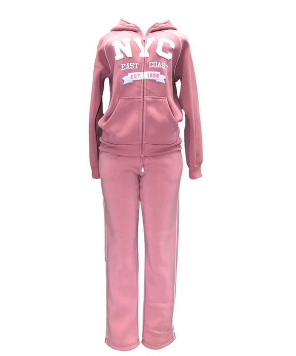 Women's Fleece NYC Matching Tracksuit
