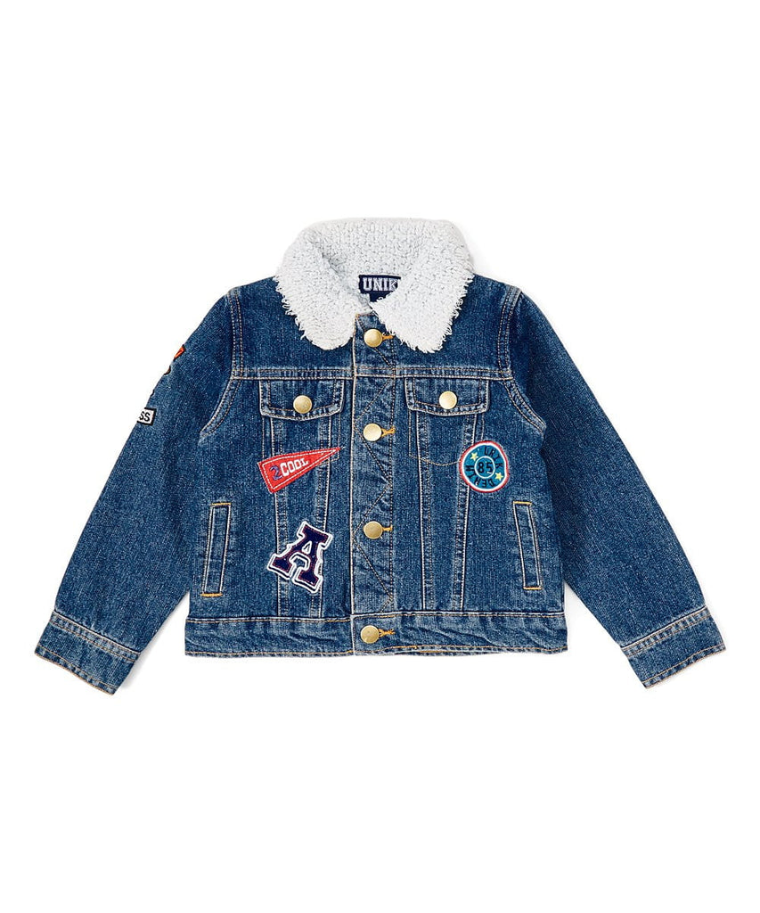 unikinc - Denim Aviator boy jacket - Unik Inc