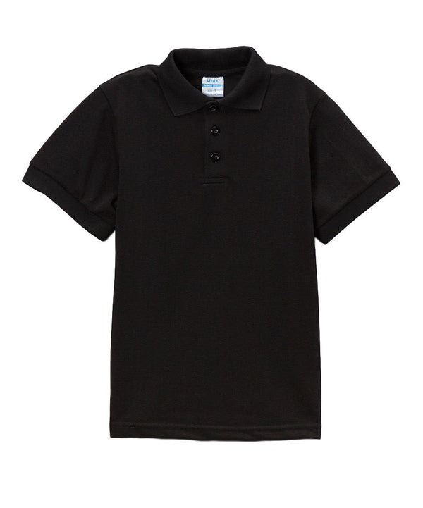 unikinc - Boys Uniform Polo Shirt Black - Unikinc