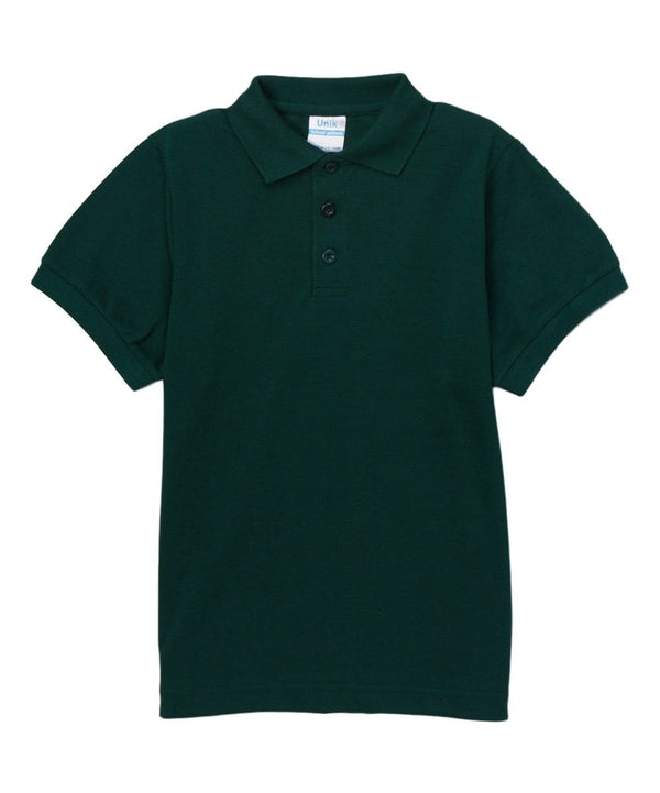 unikinc - Boys Uniform Polo Shirt Hunter Green - Unikinc