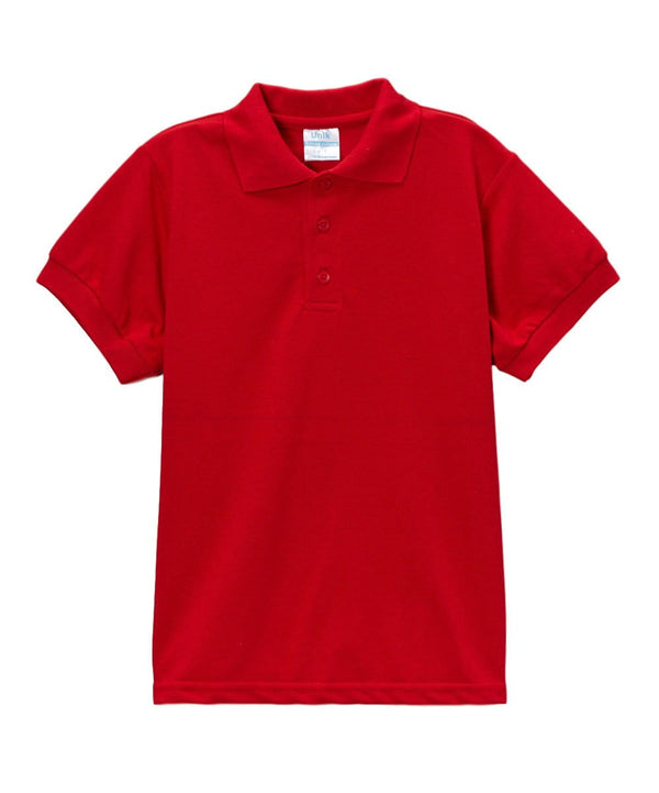 unikinc - Boys Uniform Polo Shirt Red - Unikinc
