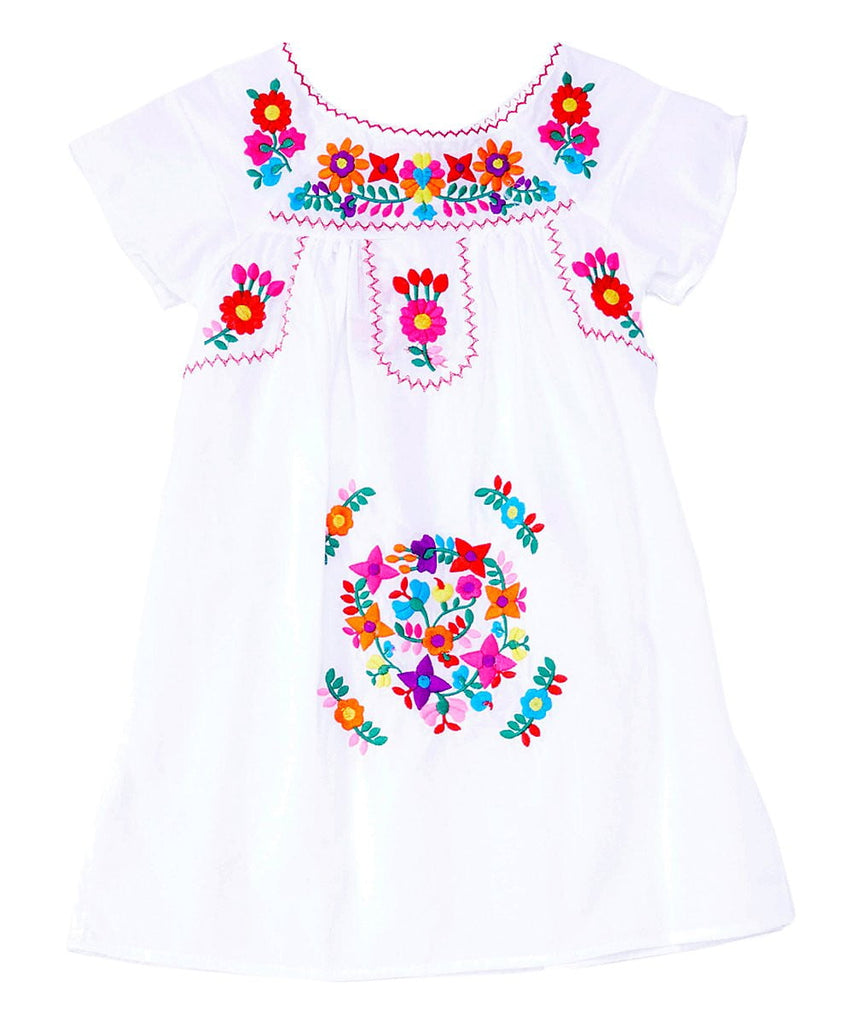 unikinc - Traditional Mexican Girl Embroidered Dress - Unik Inc