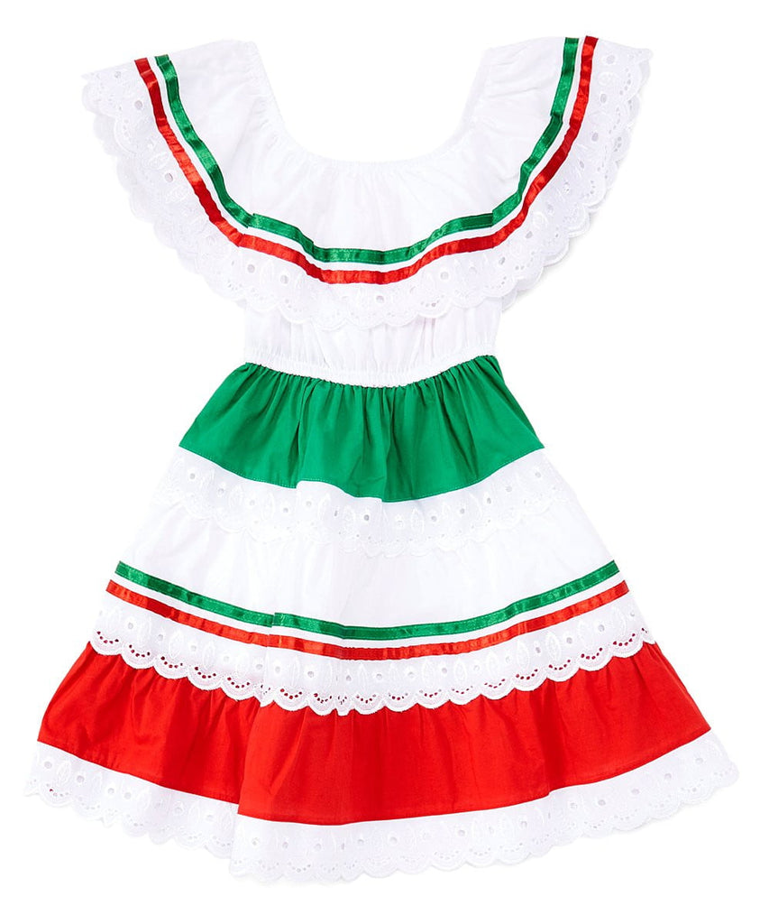 unikinc - Girl's Traditional Mexican Cinco De Mayo Fiesta Dress - Unik Inc