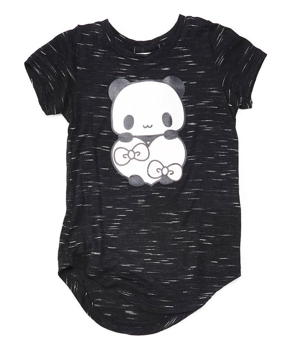 Panda Heart Girls Blouse Black