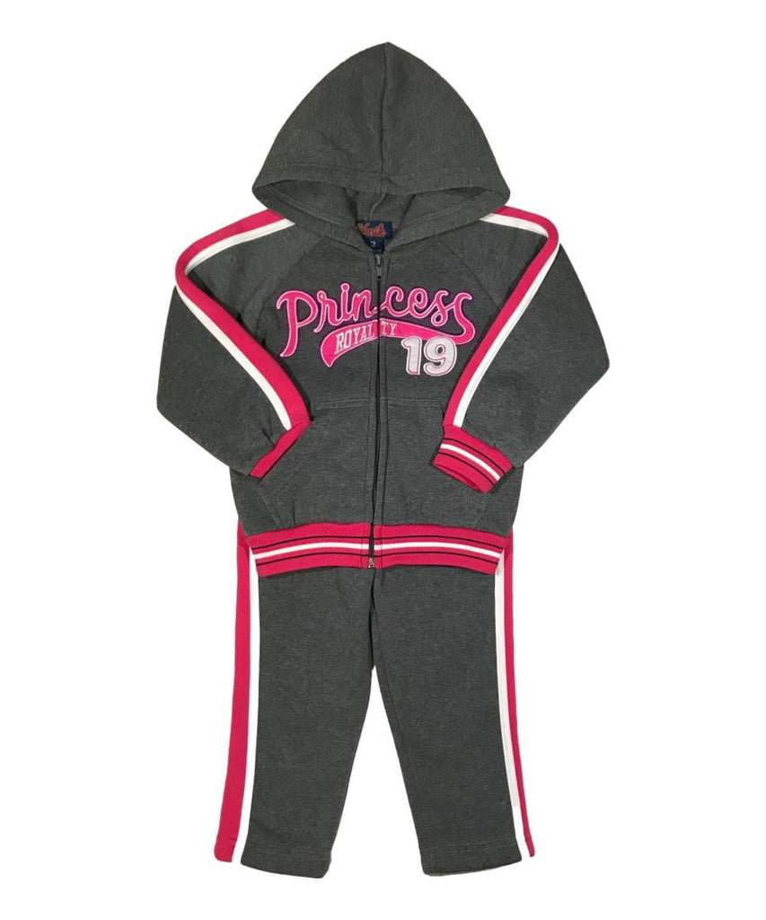 unikinc - Princess Royalty Tracksuit D Grey - Unik Inc