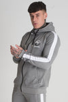 mens grey zip up hoodie