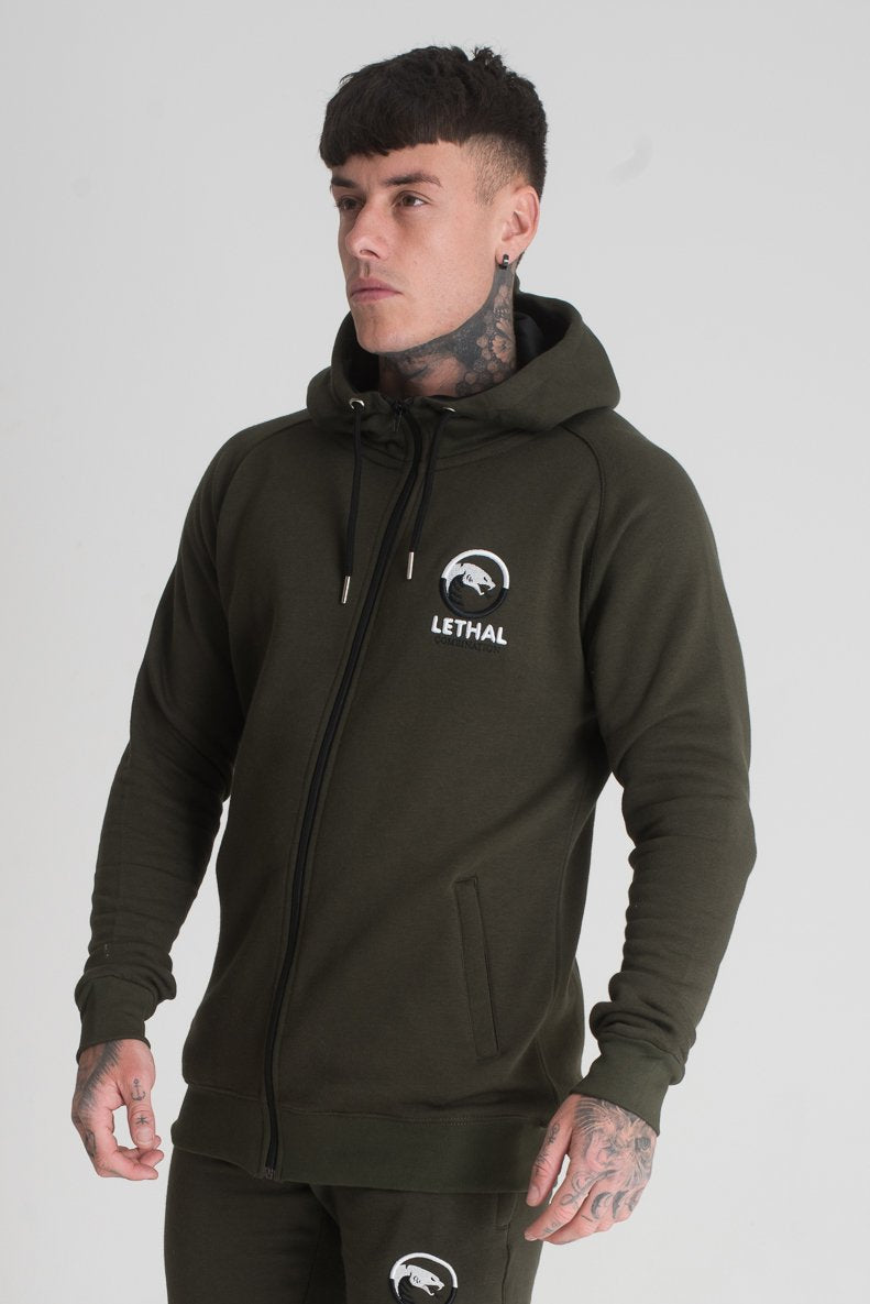 mens dark green tracksuit