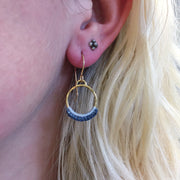 Gold Chica Hoops in Hand Dyed Storm Cloud-Twyla Dill-Seattle Jewelry-Handmade Jewelry-Seattle Jeweler-Twyla Dill