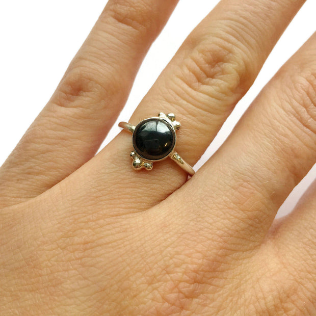 Hematite Dots Ring // One-of-a-Kind-Rings-Twyla Dill-Seattle Jewelry-Handmade Jewelry-Seattle Jeweler-Twyla Dill
