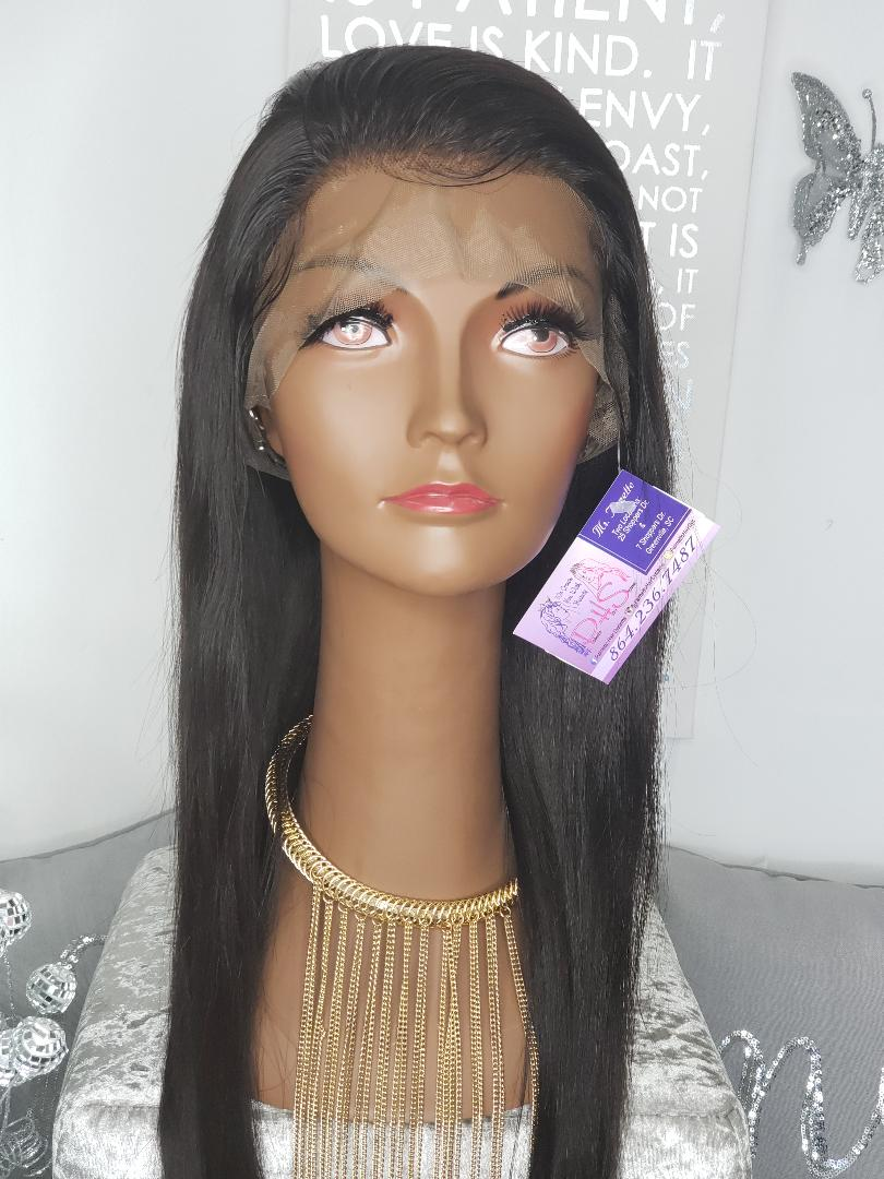 "26"" Indian Virgin Natural Straight Lace Front"