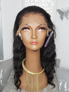 "26"" Indian Deep Body Wave Lace Front"