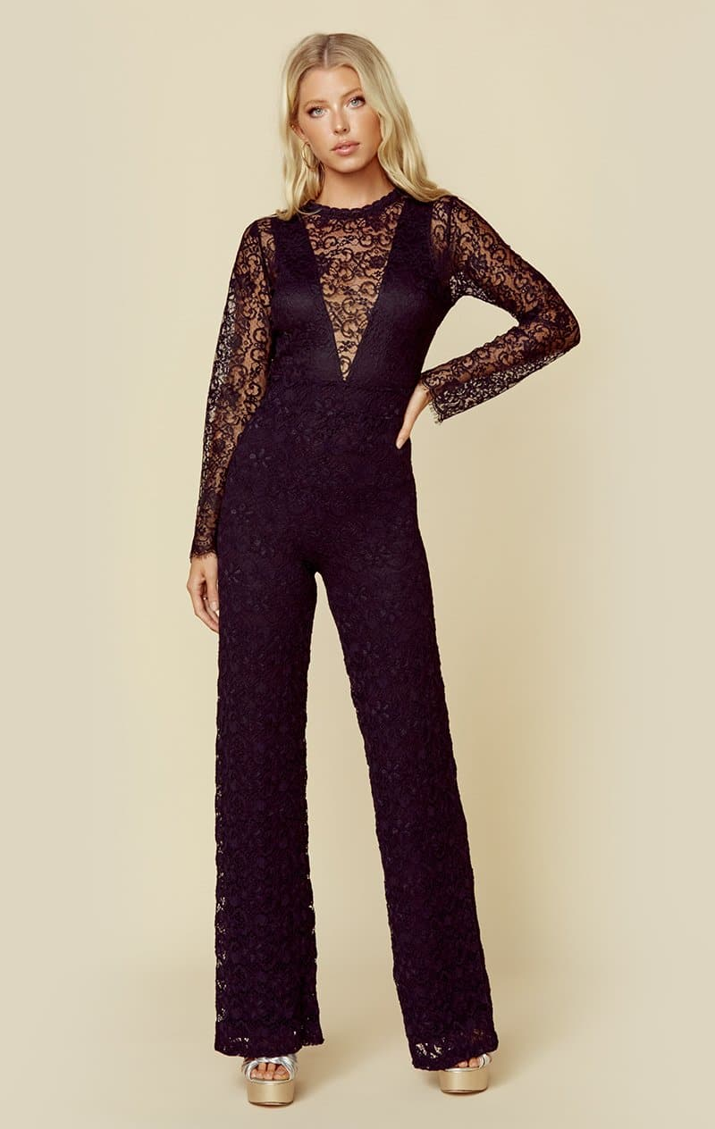 NIGHTCAP SERATA JUMPSUIT - BLACK
