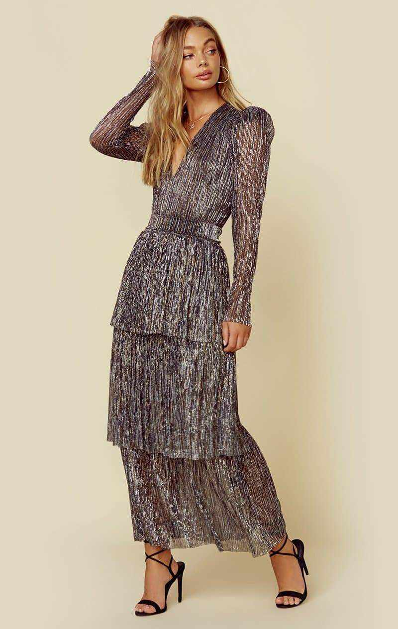 SABINA MUSAYEV CARRY DRESS - MULTI SILVER