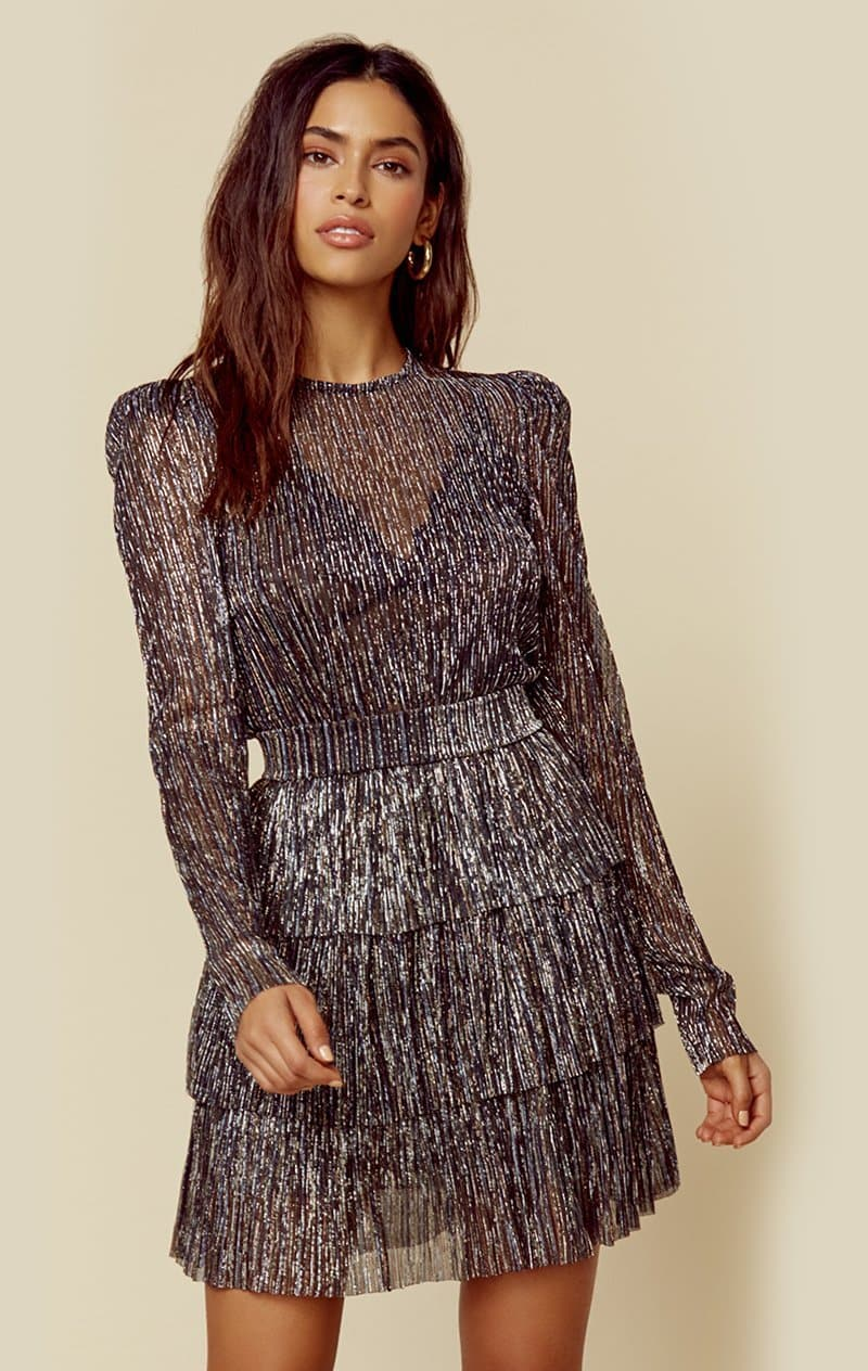 SABINA MUSAYEV MONIQUE DRESS - MULTI SILVER