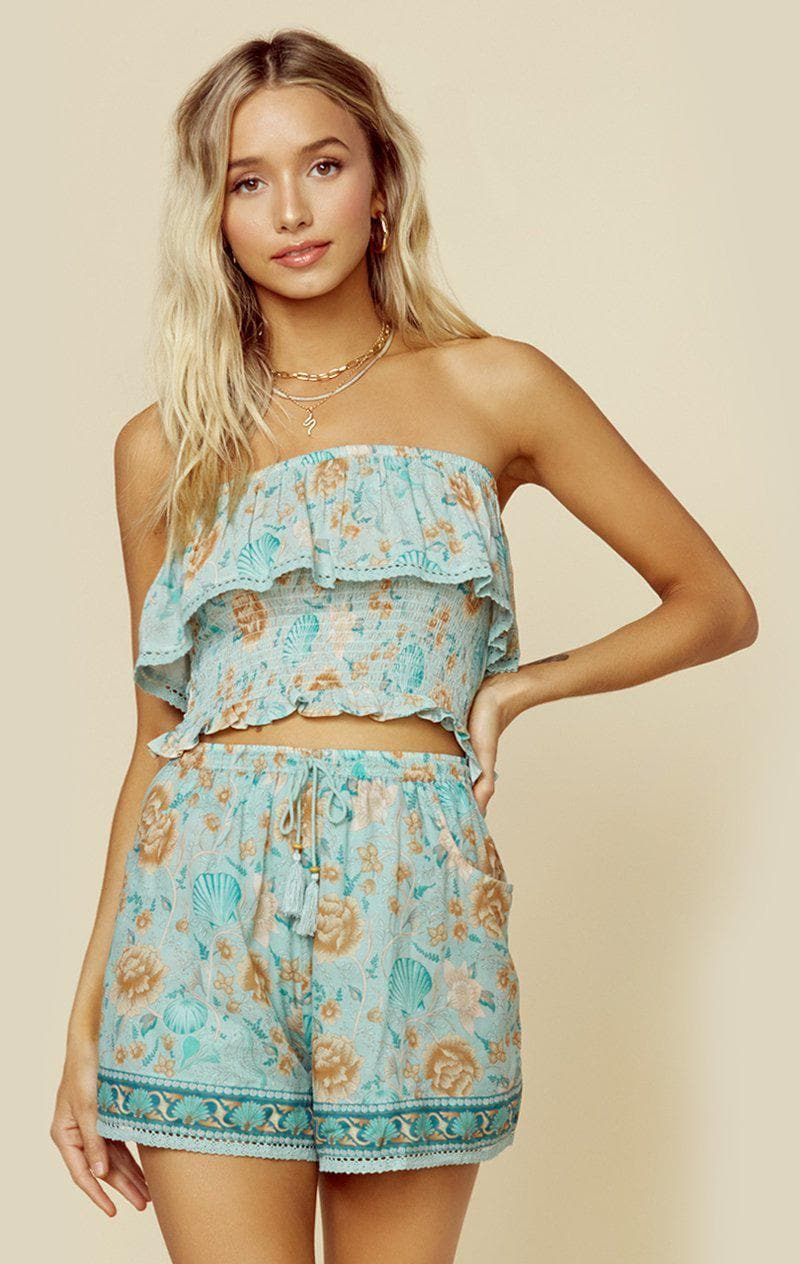 SPELL & THE GYPSY COLLECTIVE SEASHELL TOP | New - SEAFOAM