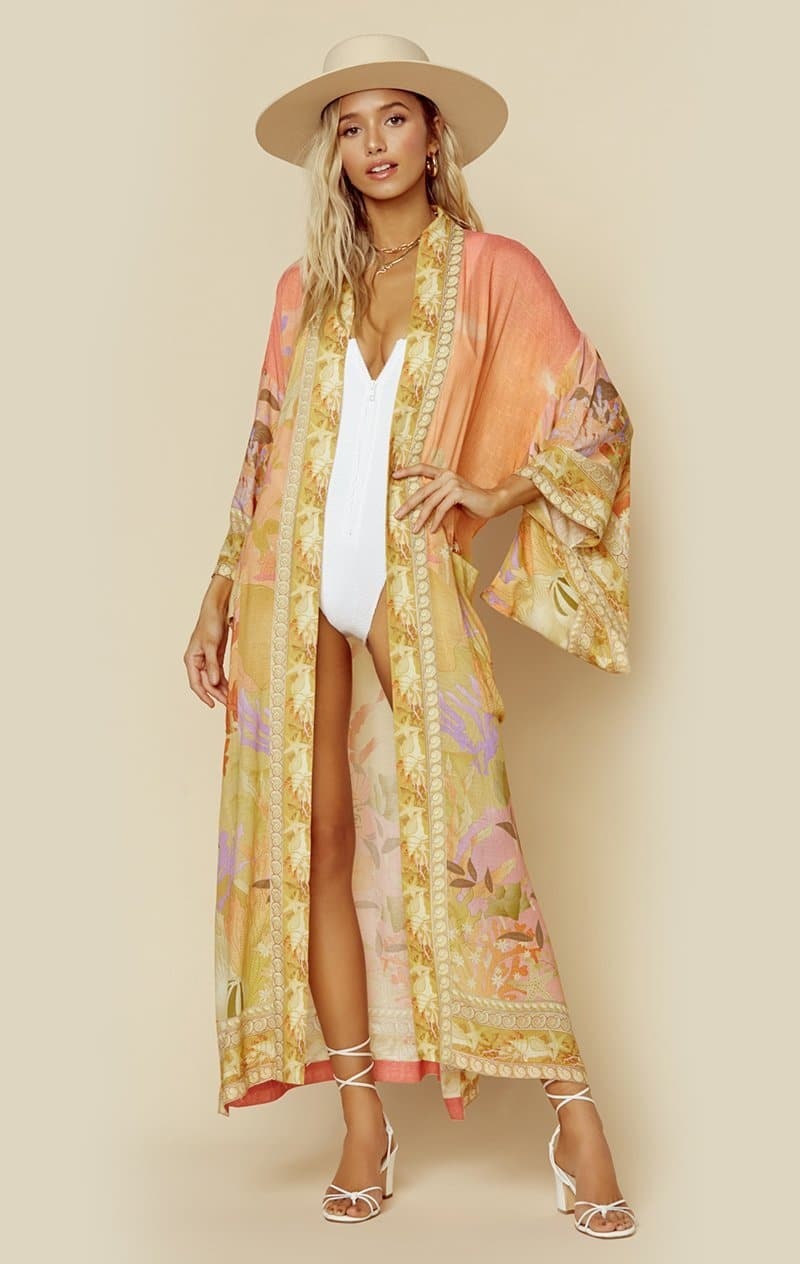 SPELL & THE GYPSY COLLECTIVE MADISON MAXI ROBE - CORAL MERMAID