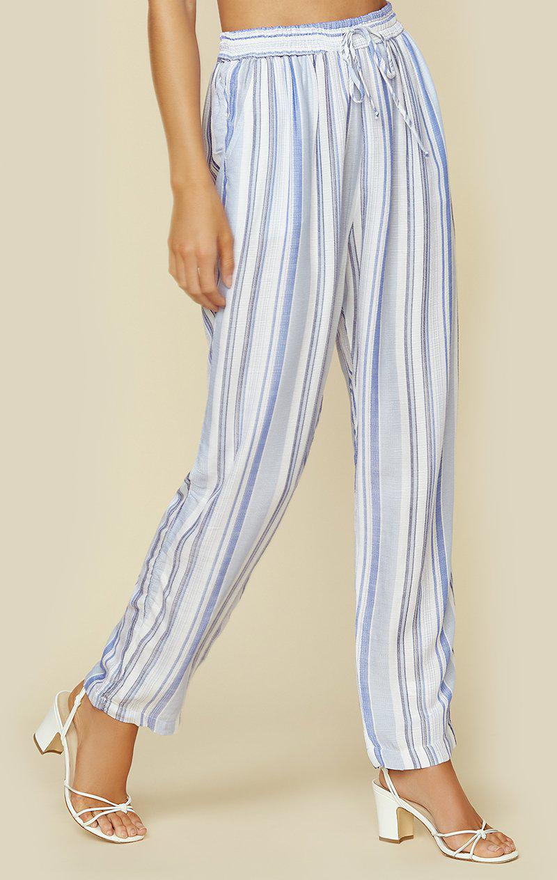 CHAMBRAY BLUE STRIPE