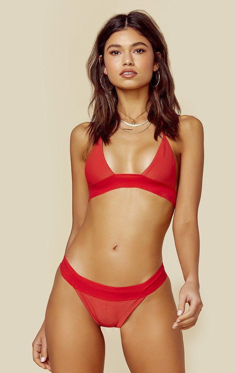 FRANKIES BIKINIS WINNIE TOP - CHERRY