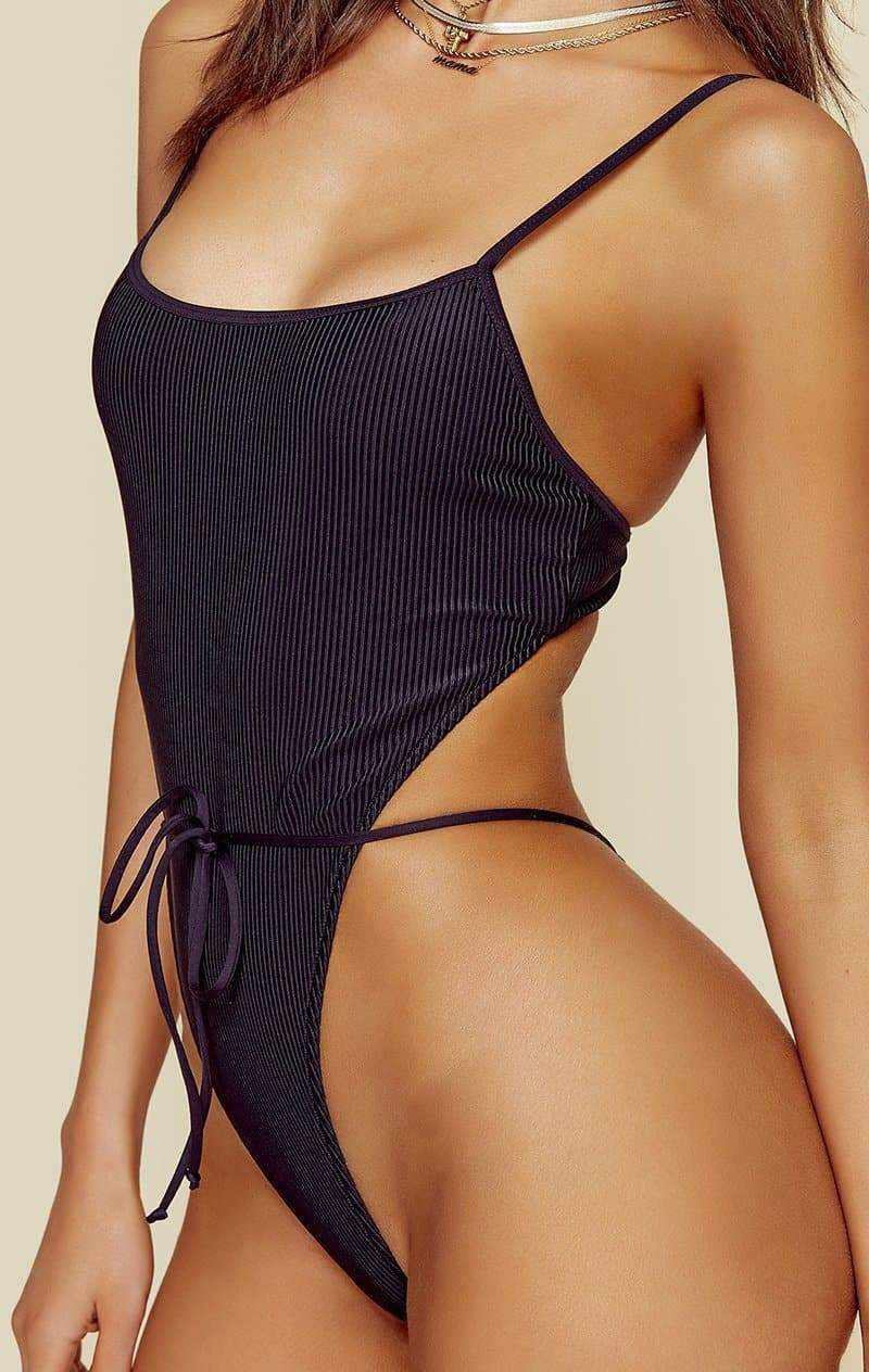 FRANKIES BIKINIS CROFT ONE PIECE - BLACK