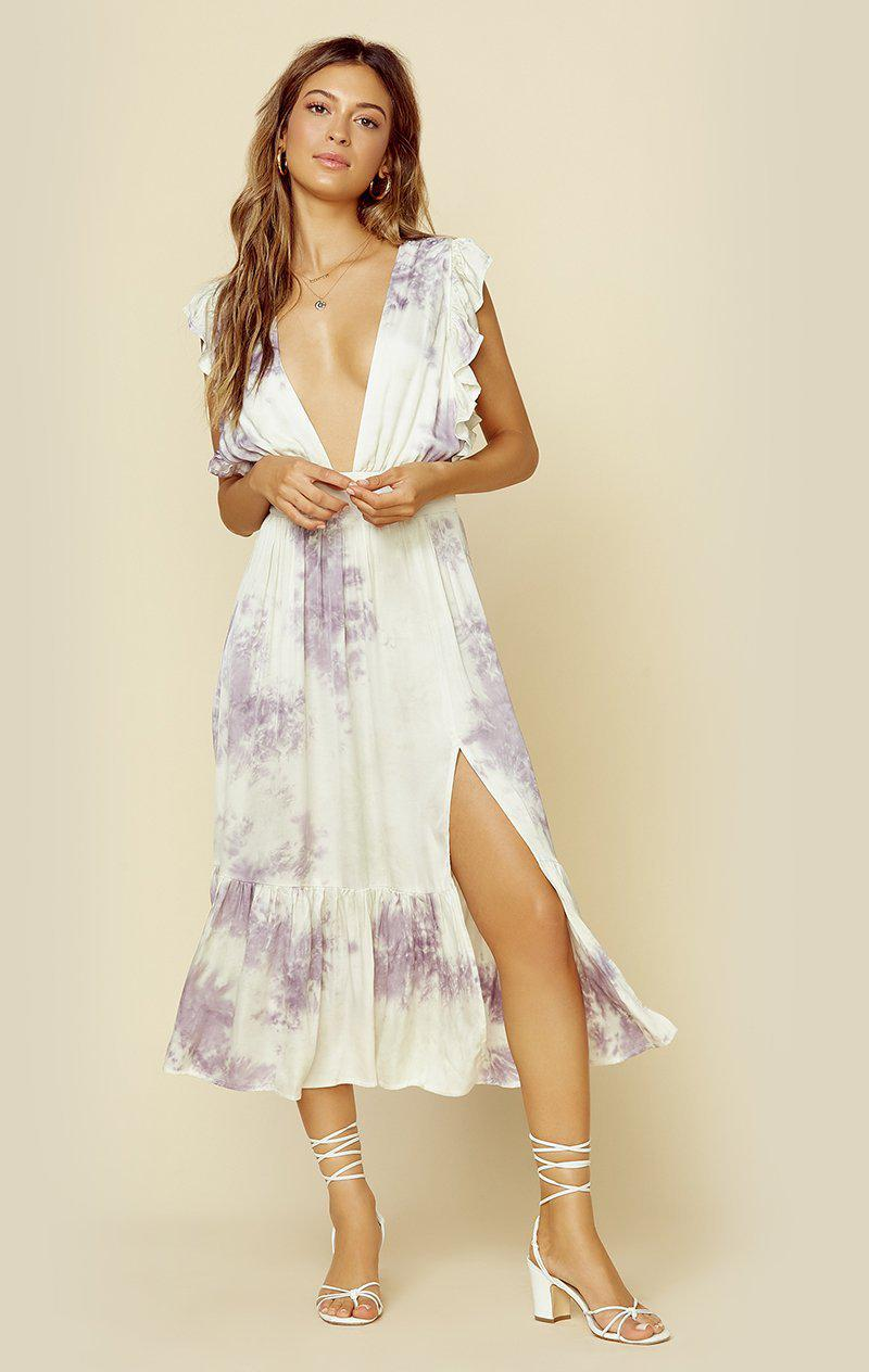 STILLWATER THE JESSIE MIDI | New - TIE DYE PURPLE