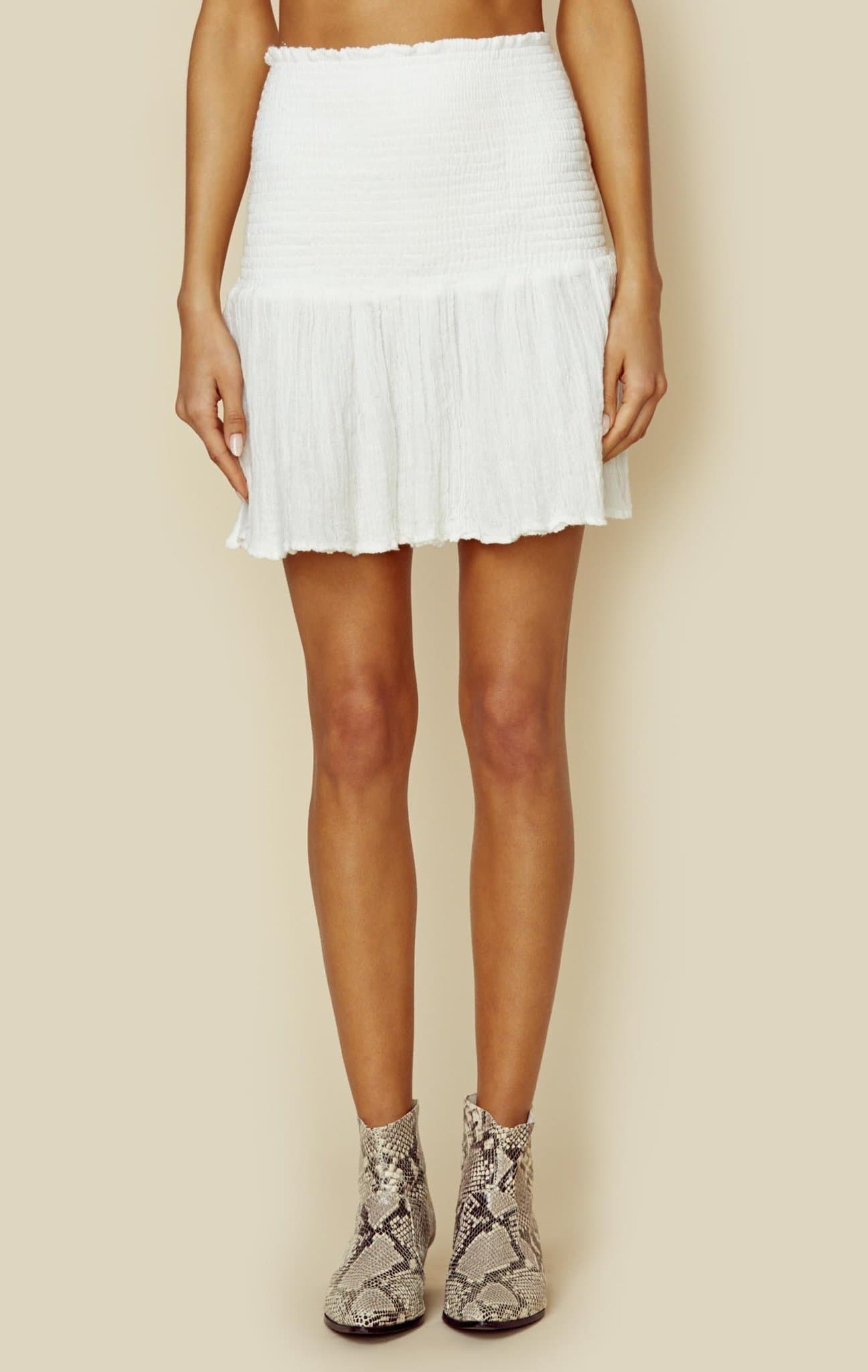 JENS PIRATE BOOTY COUNTER CULTURE SKIRT - WHITE