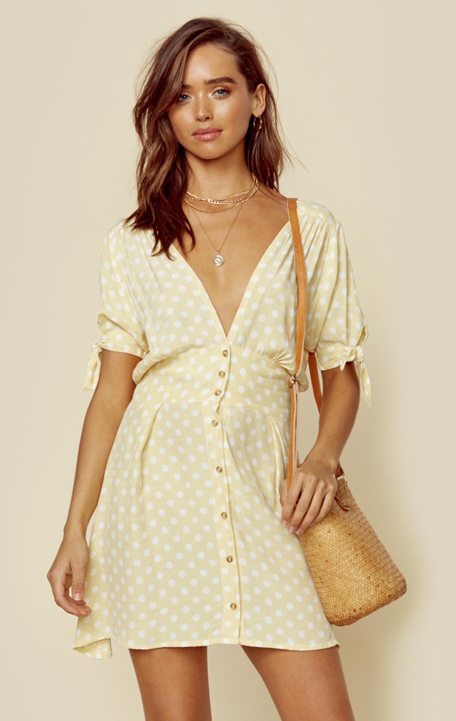 FAITHFULL THE BRAND MARIANNE DRESS - MARAIS DOT