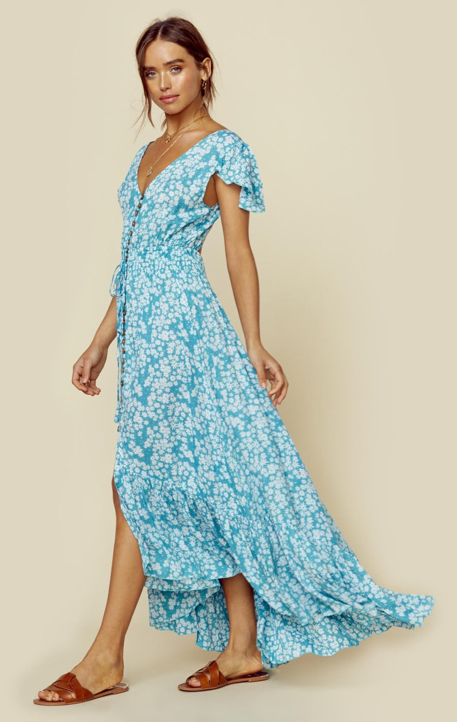 4f2999af7e NEW MOON MAXI. SCATTERED DAISY TOSCA ...