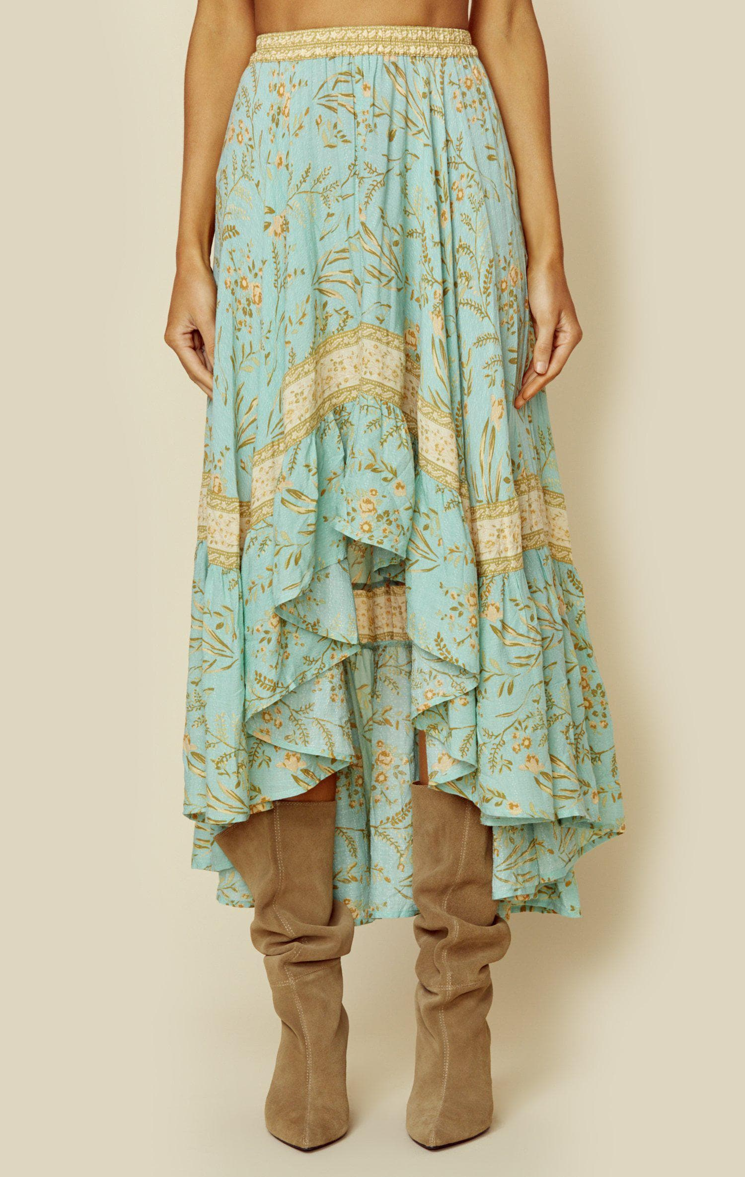 SPELL & THE GYPSY COLLECTIVE MAISIE SKIRT - VINTAGE TURQUOISE