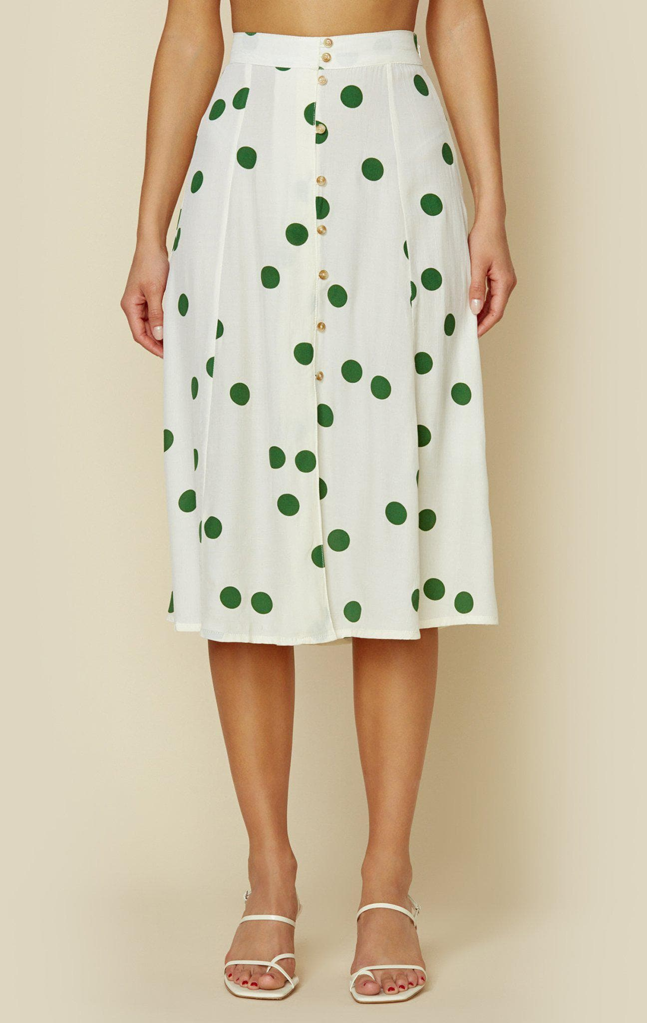 FAITHFULL THE BRAND MARIN SKIRT - LOLITA DOT