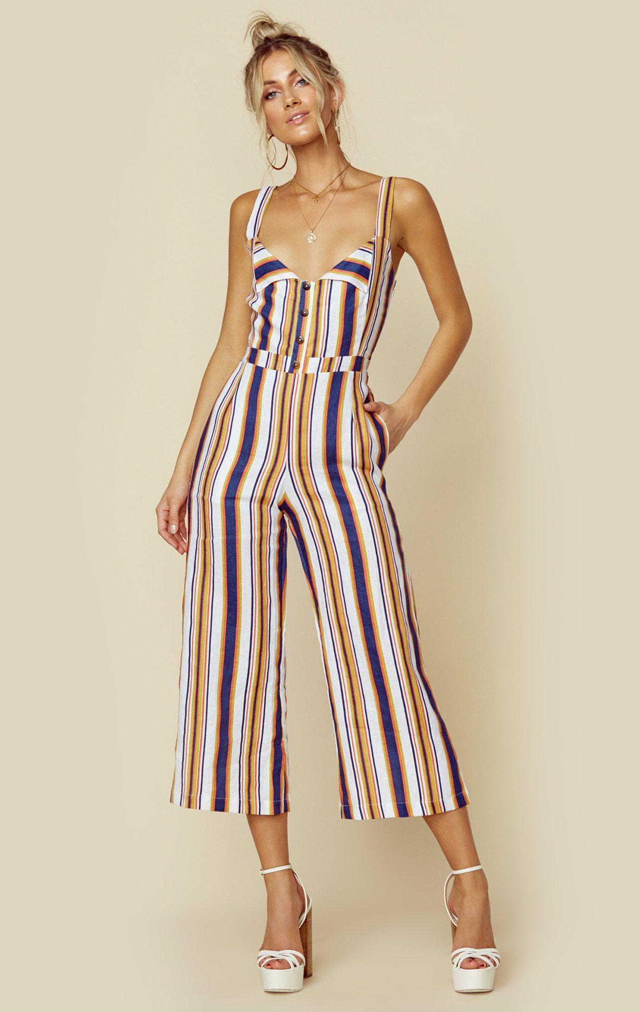 FAITHFULL THE BRAND SCOUT JUMPSUIT - MIRIELLE STRIPE