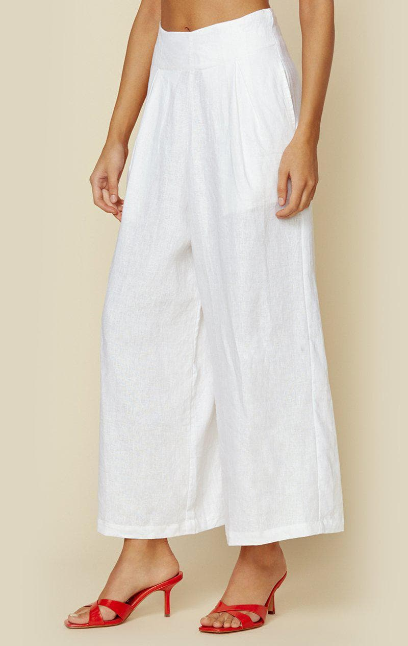 FAITHFULL THE BRAND MERIDIAN WIDE LEG PANT - WHITE
