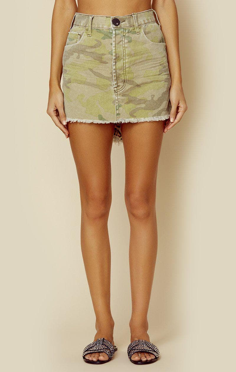 ONE TEASPOON VANGUARD MINI SKIRT - CAMO