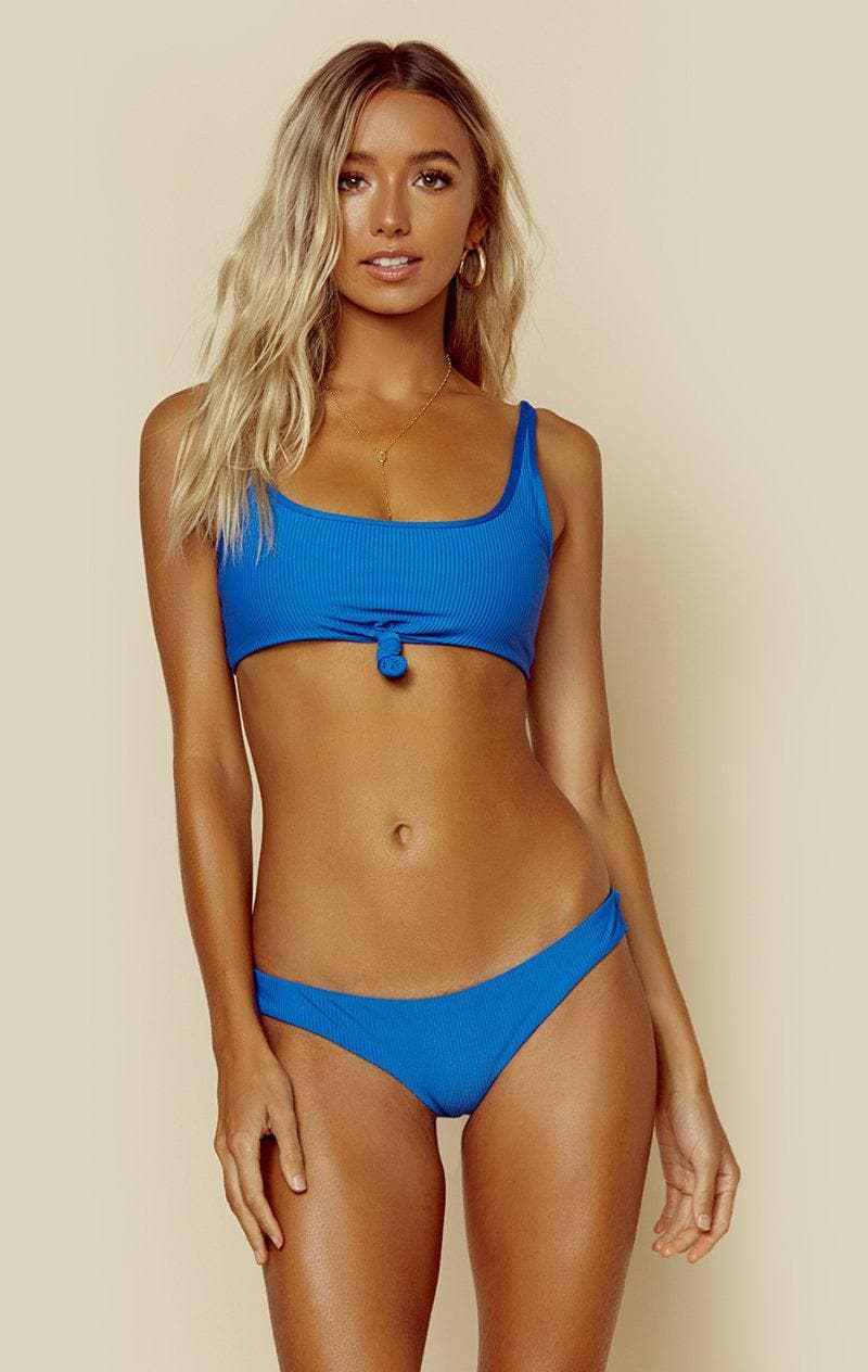 FRANKIES BIKINIS GREER TOP - COBALT RIB
