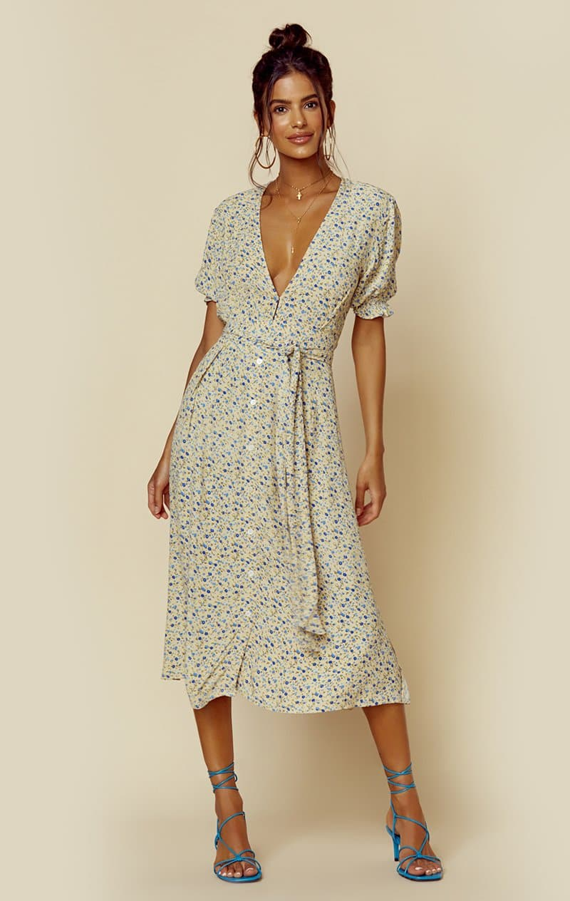 FAITHFULL THE BRAND FARAH MIDI DRESS - MEDINA FLORAL