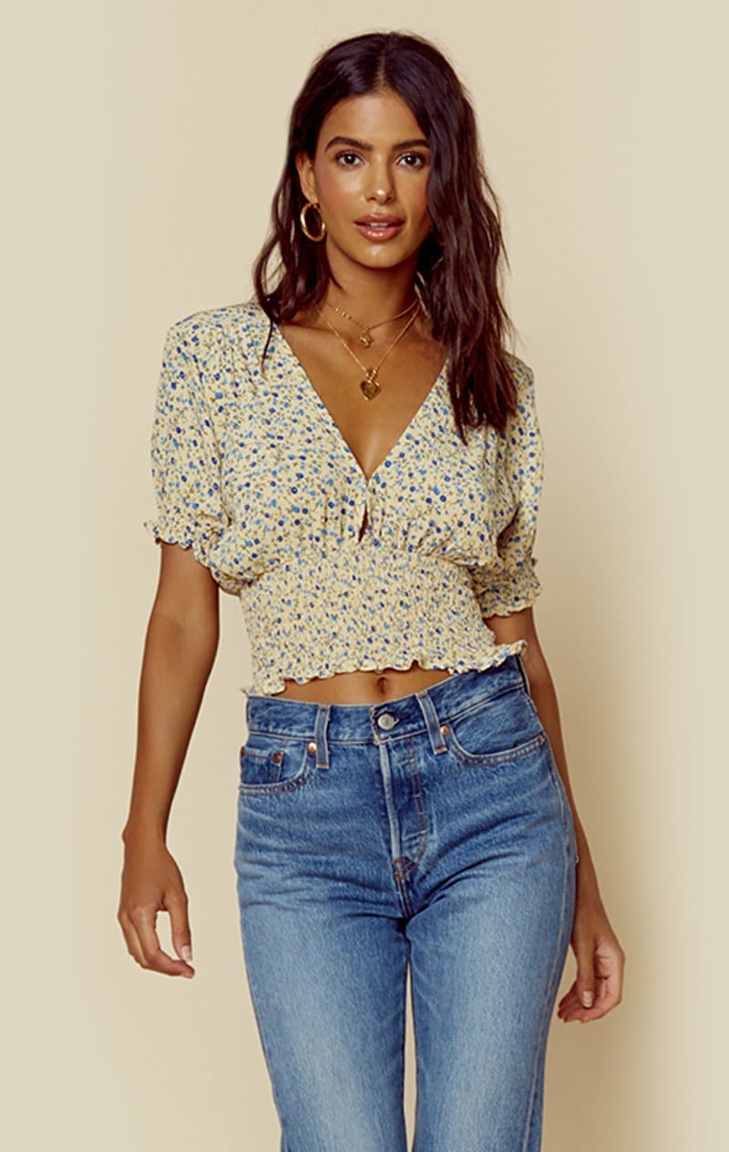 FAITHFULL THE BRAND FIRST LIGHT TOP - MEDINA FLORAL