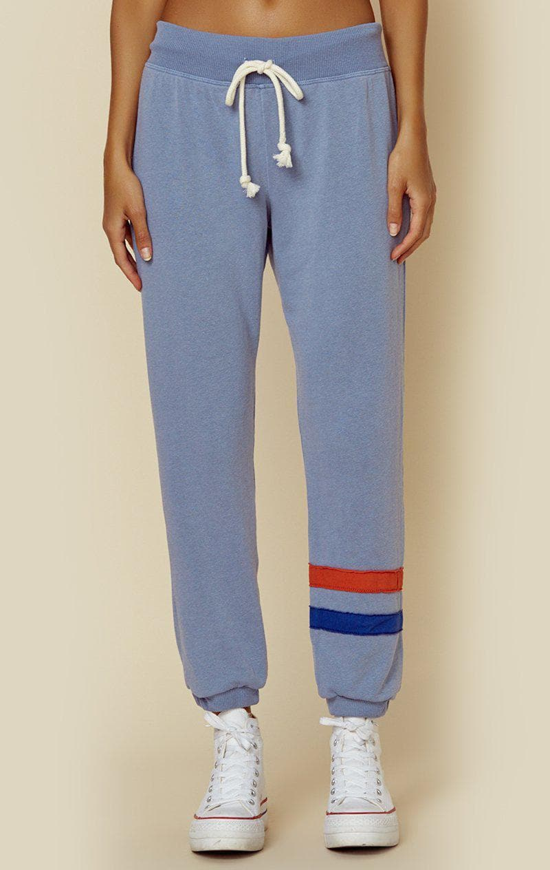 SUNDRY SWEATPANTS WITH STRIPES - STONE BLUE