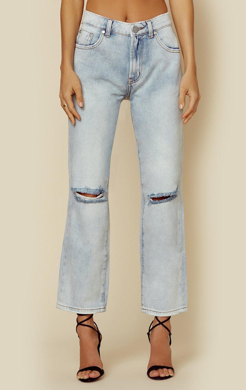 ONE TEASPOON TRUCKERS MID RISE STRAIGHT LEG - WILD BELLE