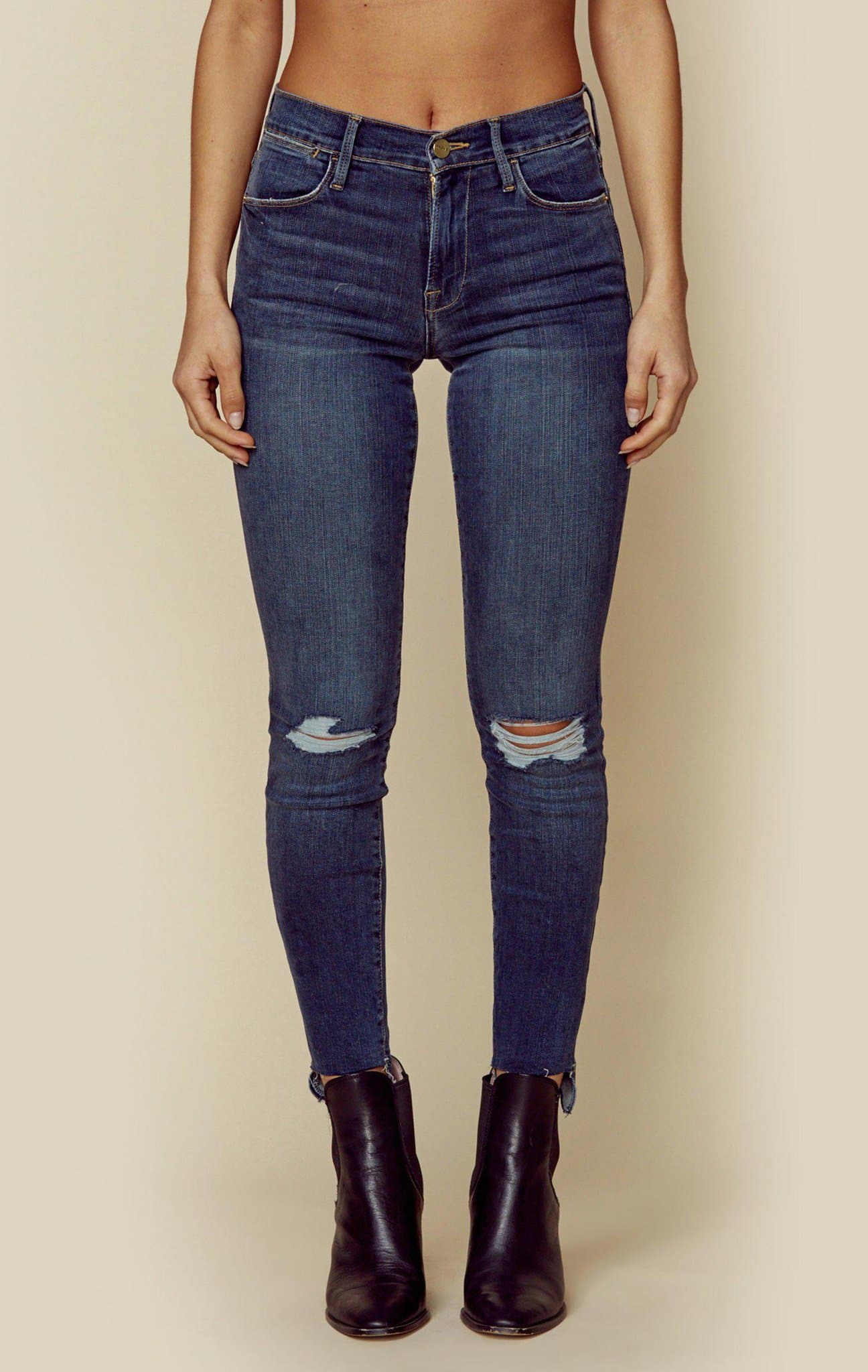 le high skinny raw stagger | sale