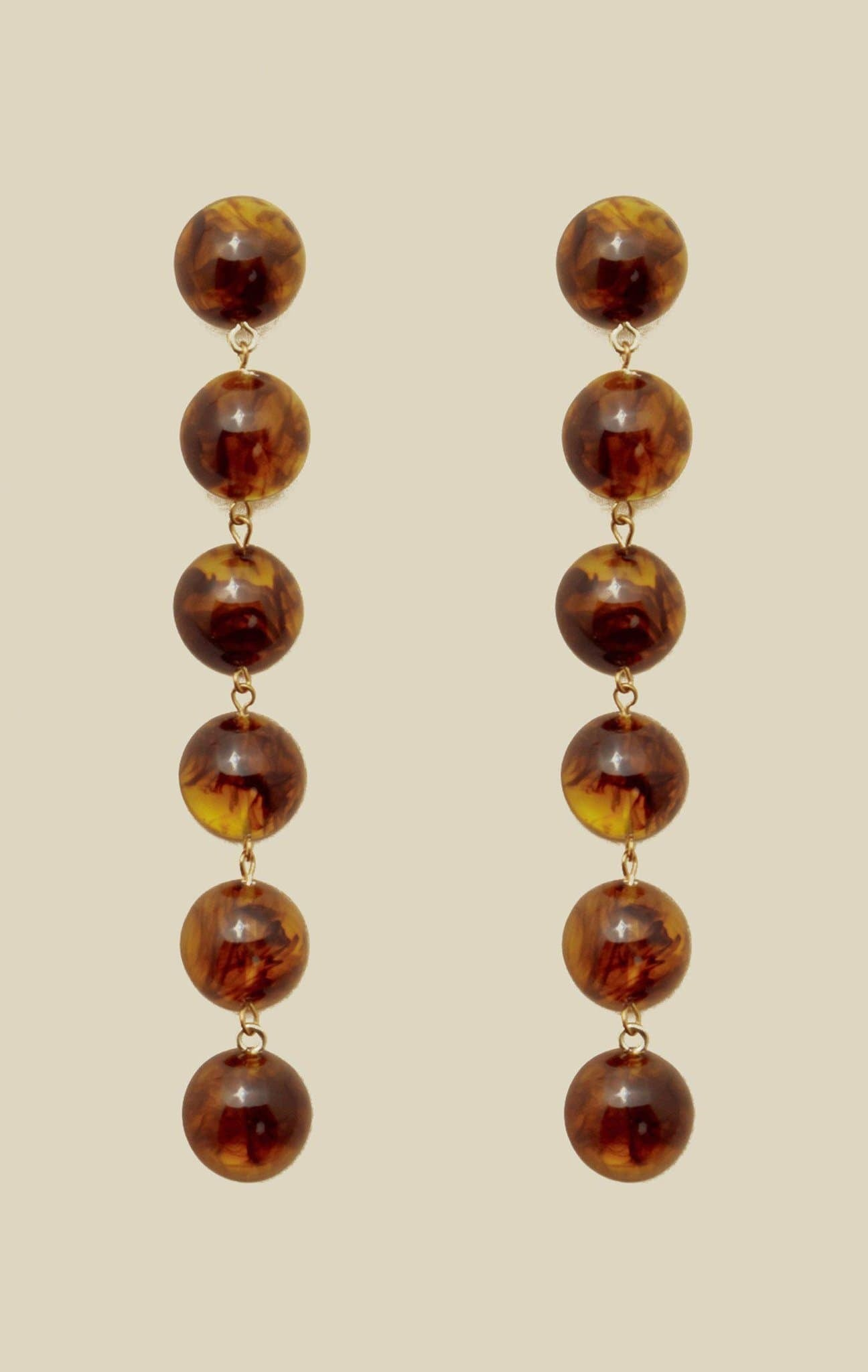 VALET TALLULAH EARRINGS - TORTOISE