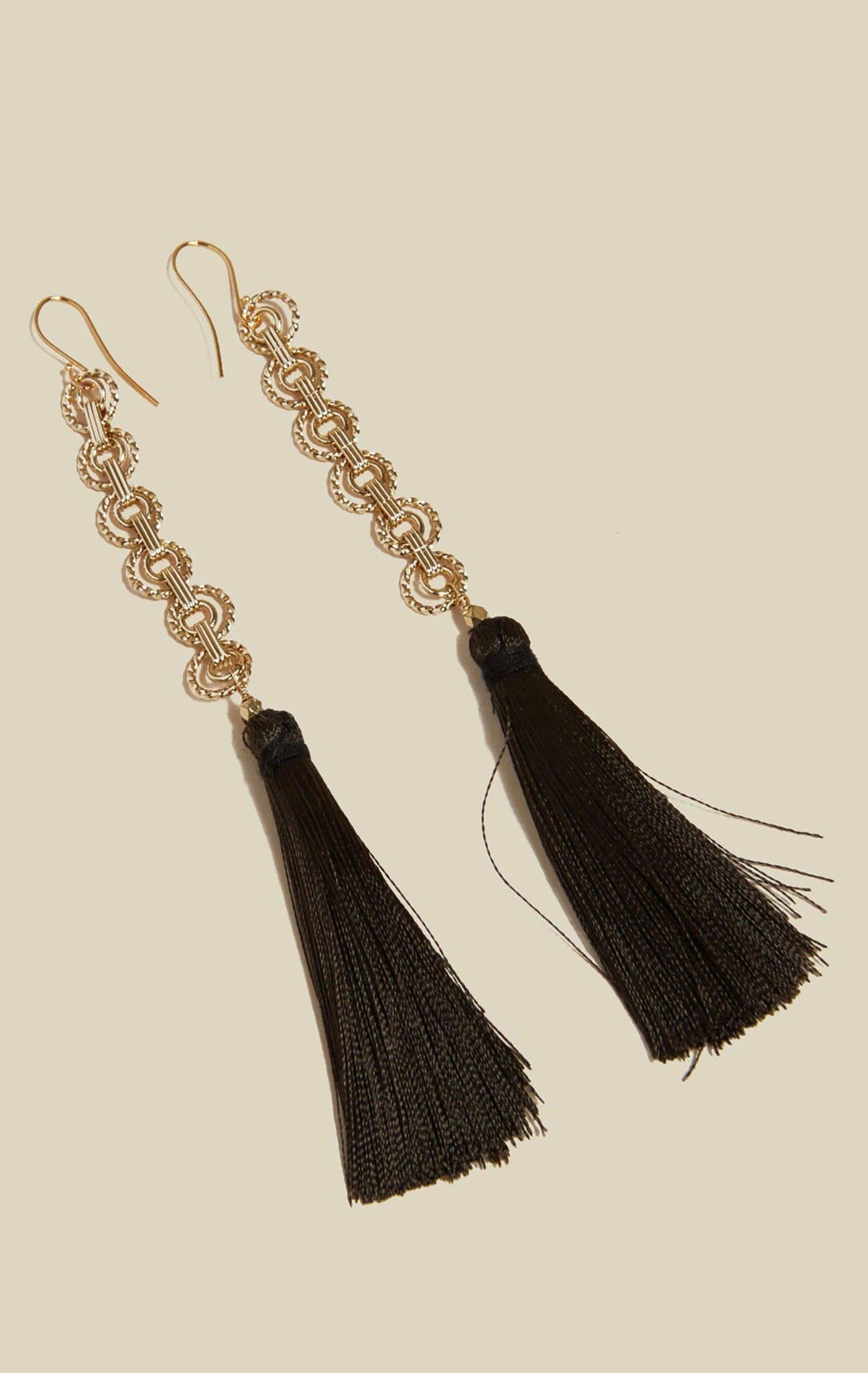 VANESSA MOONEY THE ISLA TASSEL EARRINGS - DARK GREEN