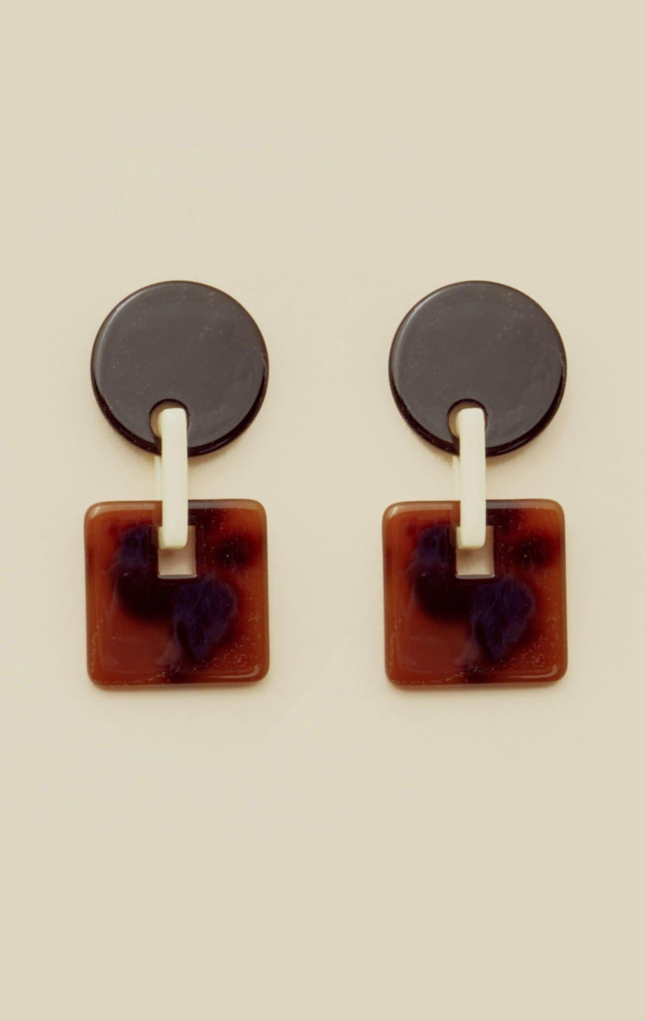 VALET SAVANNAH EARRINGS - TORTOISE