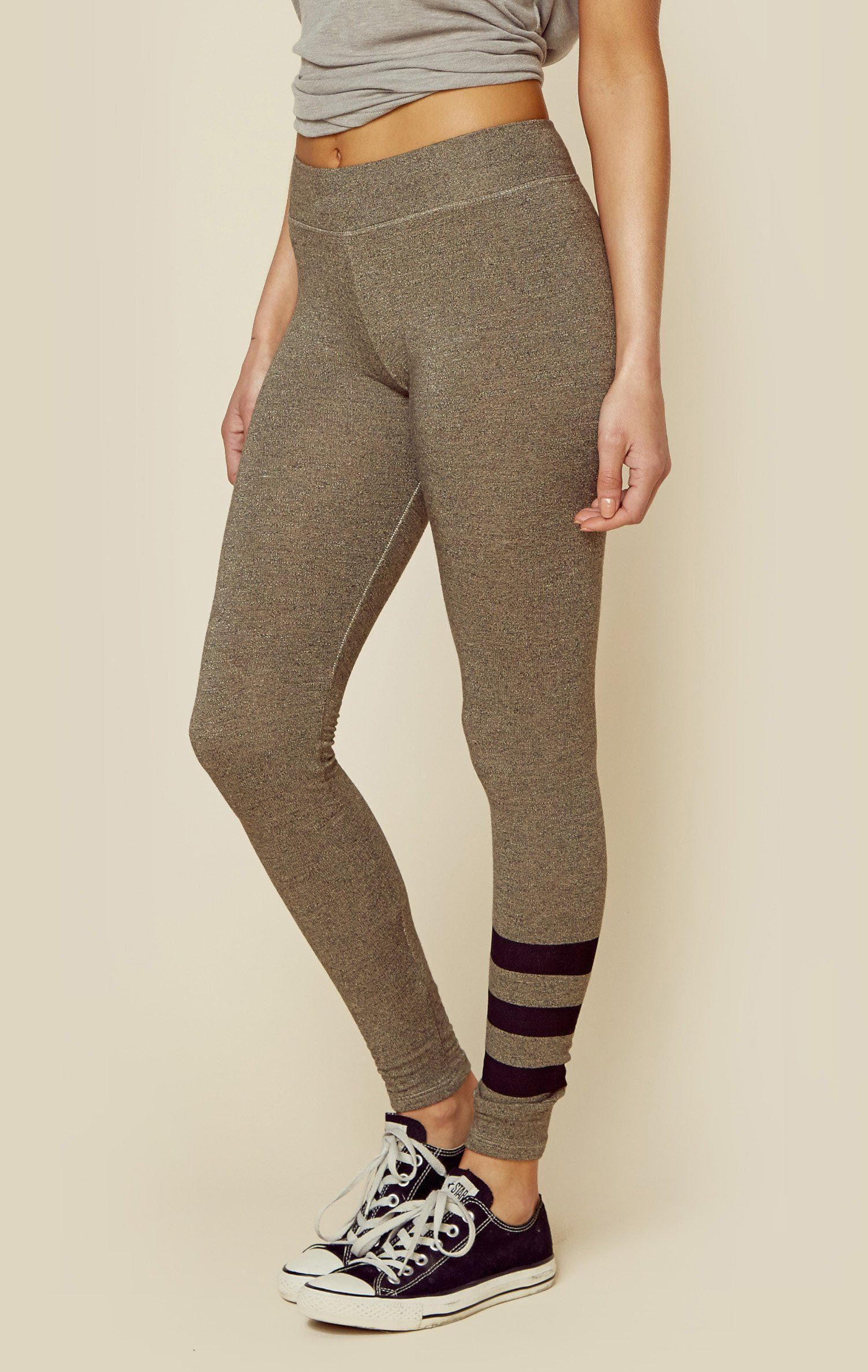SUNDRY STRIPES YOGA PANT - H.GREY