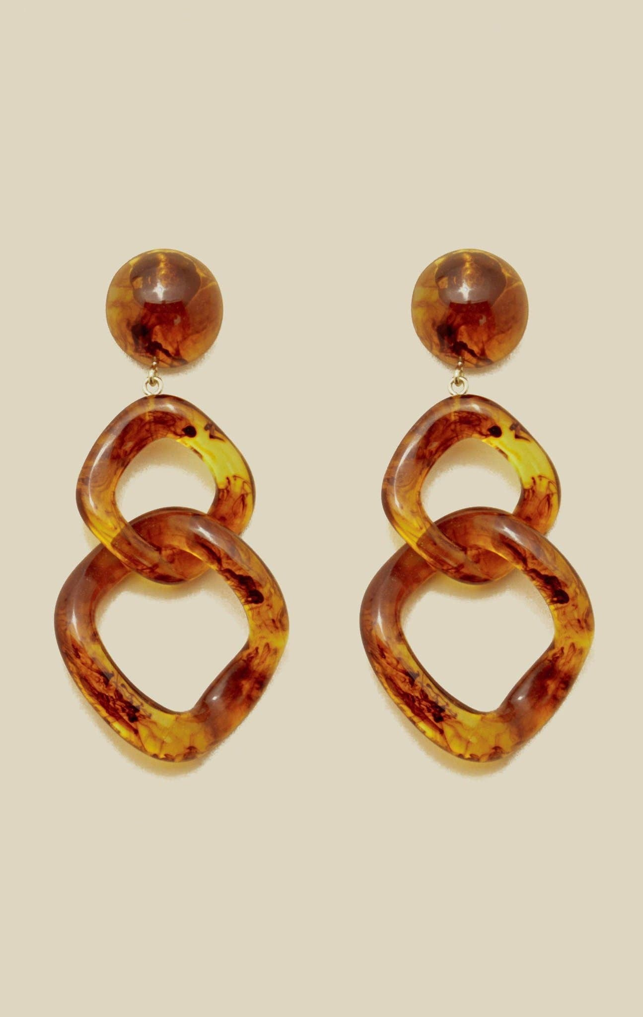 VALET TAMARA EARRINGS - TORTOISE