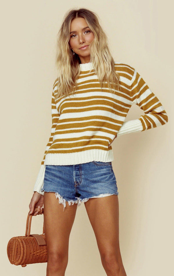 WHITE + GOLD STRIPE