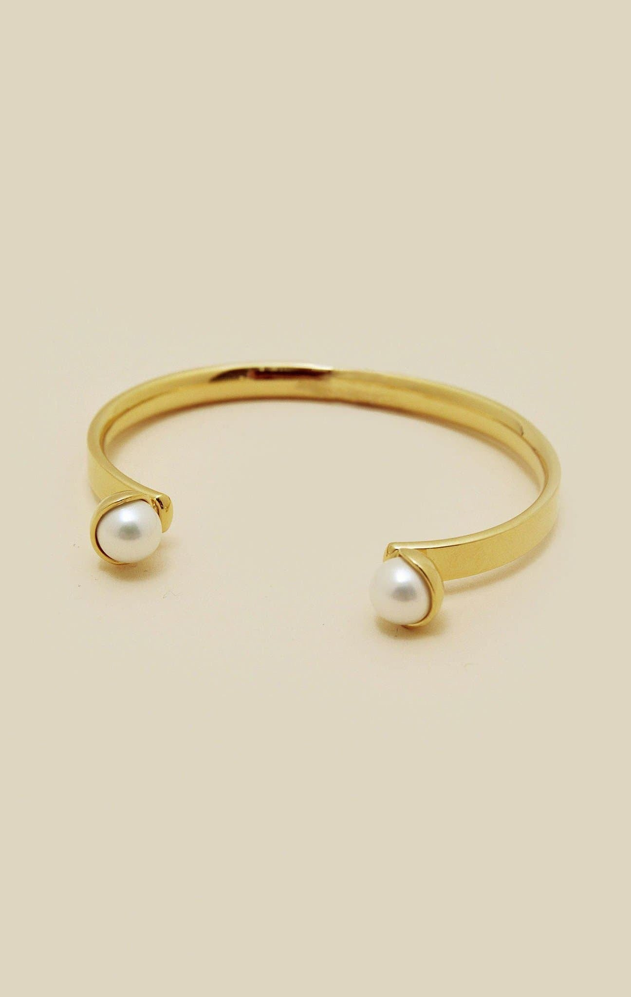 AVEC POM POM OPEN BANGLE - GOLD