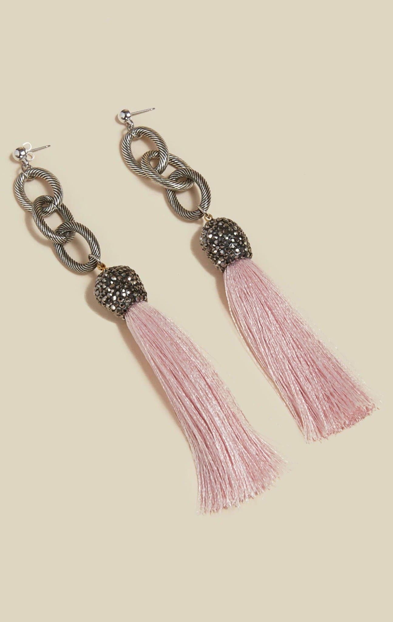 VANESSA MOONEY THE ALLORA TASSEL EARRINGS - CREAM