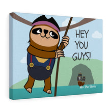Mo the Sloth Canvas Gallery Wraps - 'Hey you guys'