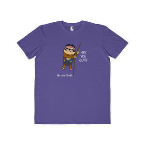 Mo the Sloth Men's Lightweight Fashion Tee - 'Hey you guys'